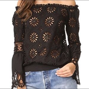 Temptation Positano off shoulder eyelet top